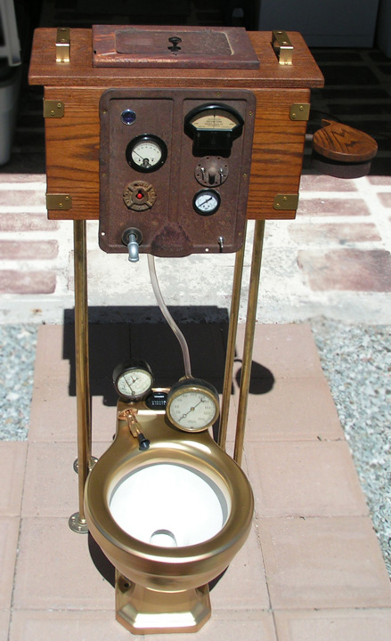 steampunk toilet