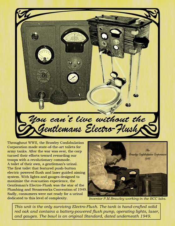 ad for electro flush toilet